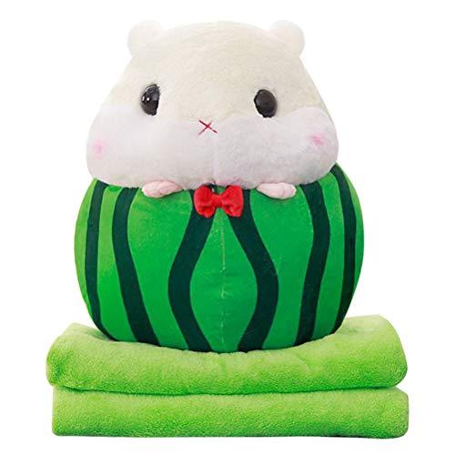 3-in-1 Plüsch Obst Kissen Decke Eichhörnchen Flauschigen Kissen Decke Plüsch Obst Werfen Kissen mit Decke Auto Kissen Geschenk