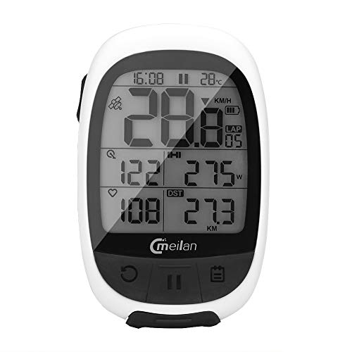 MEILAN M2 Bluetooth Wireless Bike Computer IPX6 Waterproof Bicycle Computer Odometer Accurate Speed Tracking Motion Speedometer for Sports ANT+ Communication Protocol for Wireless Data Transmission