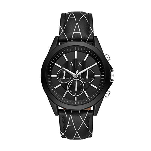 Emporio Armani Herren Chronograph Quarz Uhr mit Leder Armband AX2628