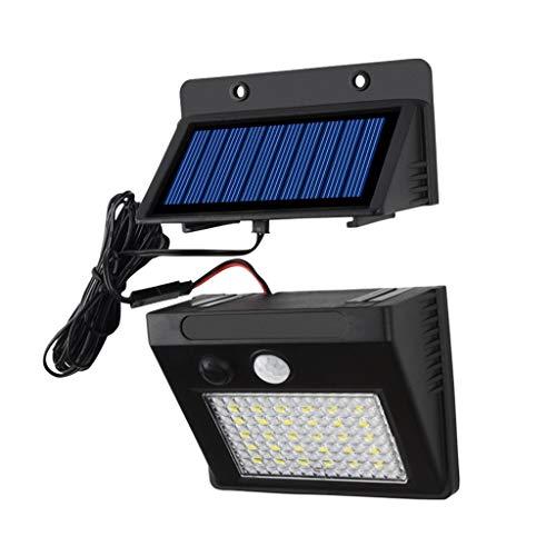 Lámpara solar de pared para exteriores, tipo dividido, 30 LED, cuerpo humano, inducción, impermeable, iluminación de jardín, carretera, modo de tres velocidades