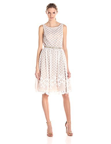 Eliza J Women's Lace Fit-and-Flare Dress - Off-White - 10