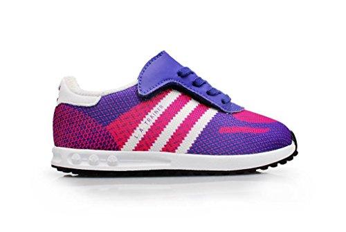 Adidas LA Trainer Weave CF I für Kleinkinder, Violett / Weiß / Pink, Größe 38