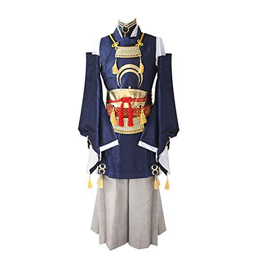 LISI Games Touken Ranbu Online Cosplay Kostüm, Anime Japanische Herren Mikadukimunechika Kimono Anzüge Seidenstoff 9-teiliges Set, M