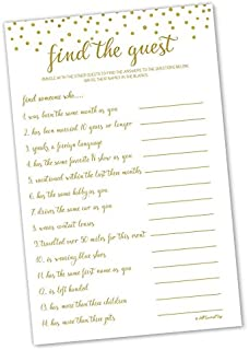Find the Guest - Game - Gold Confetti (50-sheets)