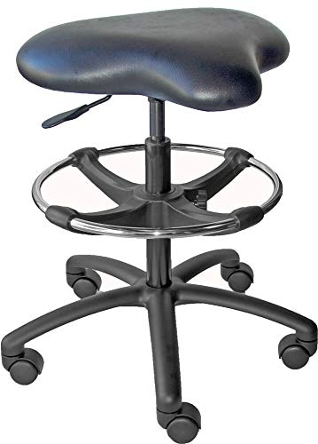 Heavy Duty Vinyl Drafting Chair Stool Workbench Lab Laboratory Rated 350lb, Best Design of Chair