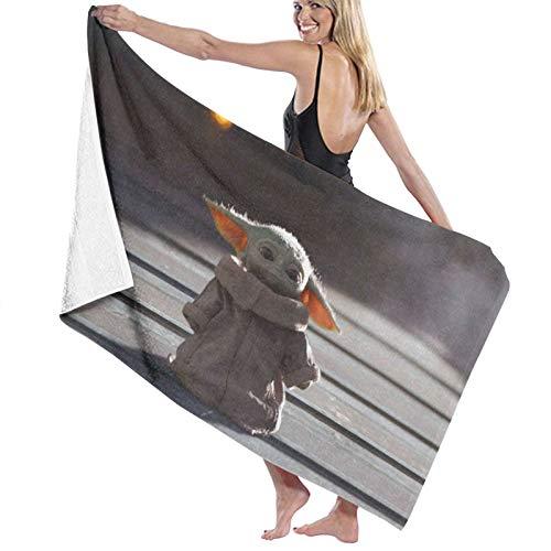 Yo-Da Star-Wars - Toalla de baño de microfibra para bebé, para hombres y mujeres, ultra absorbente, ultrasuave, para gimnasio, camping, piscina, baño, 81 x 132 cm