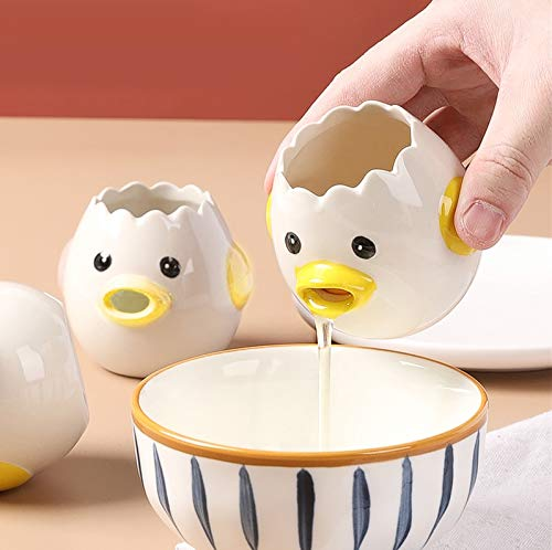 Cartoon Egg Separator Mini Egg White and Yolk Separator Practical and Simple Ceramic Egg Separator Suitable for Kitchen Baking Small Tools