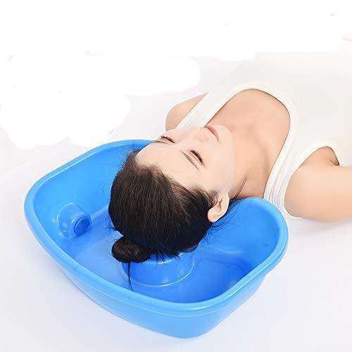 CYYYY Bassin de shampooing, Bol en Plastique Durable Shampooing Portable avec Amovible Tube de Drainage for Nuit et lit for Personnes âgées