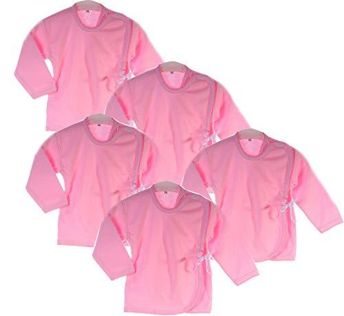 La Bortini Hemdchen 5er Set Paket Baby Wickelshirt Wickelhemdchen Erstlingsshirt Flügelhemd (50)
