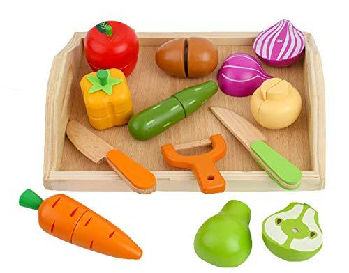 (日本知育玩具研究所) 木製 おままごと ままごと セット 料理遊び ごっこ遊び 調理器具 食器 果物 野菜 食...