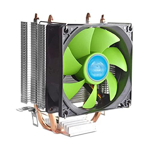 SHAOKAO CPU Cooler 62mm Altura Chasis Radiador 2 Heatpipes CPU Aire Cooler 90mm 3Pin PWM Ventilador refrigeración por aire para...