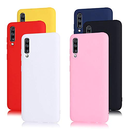 6X Cover Samsung A70 Silicone, CaseLover Custodia Morbido TPU Ultra Sottile Cover per Samsung Galaxy A70 Satinate Opaco Protezione Copertura Matte Gomma Gel Protettiva Caso Antiscivolo Case 6 Colori