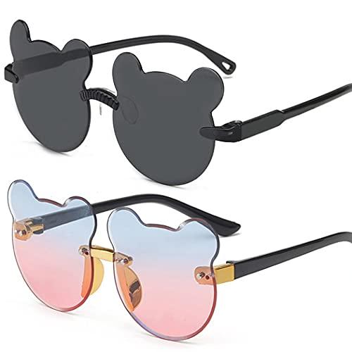 Gafas de Gafas polarizadas para niños Oso 2 Pares de Solos de Sol Gafas de Sol al Aire Libre