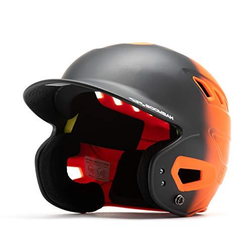 Boombah DEFCON Matte Fade Batting Helmet Black Orange - Size Junior 6 1 4  - 7