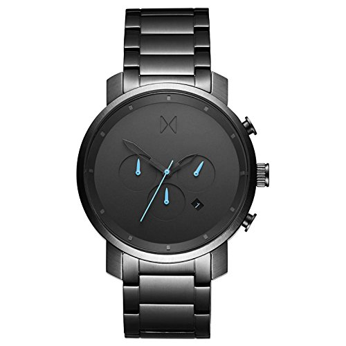 MVMT Herren Chronograph Quarz Uhr mit Edelstahl Armband D-MC01-GU