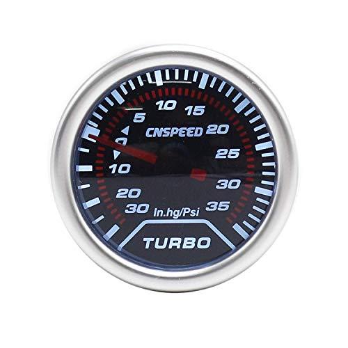 ZhenHe 12V 2 '' 52mm Auto Turbo Boost Gauge -30~35 PSI in.HG Humo de la Lente con la luz Turbo Boost calibrador del Metro for el Coche del Carro del Barco Tablero