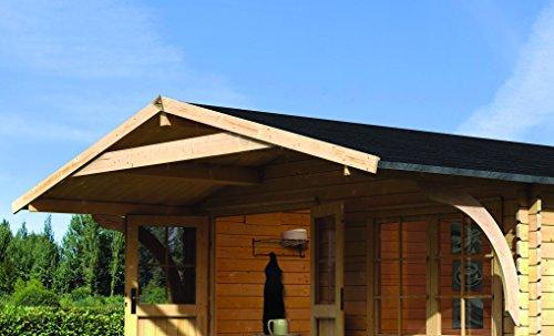 Unbekannt Karibu Gartenhaus Hardenberg 1 mit Vordach