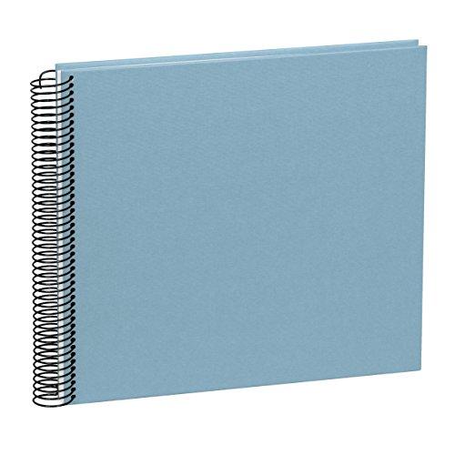 Semikolon (352951) Spiral Album Large ciel (hell-blau) - Spiral-Fotoalbum mit 40 Seiten u. Efalin-Einband -Fotobuch mit cremeweißem Fotokarton