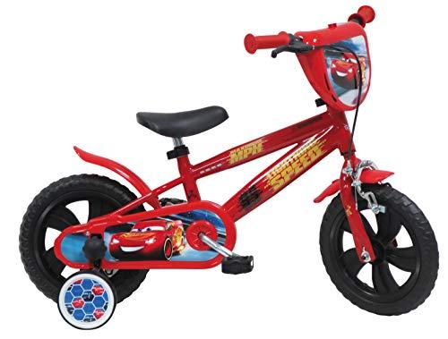 Mondo Toys - Bici Mod. CARS 3 per bambino / bambina - misura 12'' - rotelle e freno anteriore - colore rosso 25413