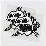 WYZDGTD Sticker de Carro by Interesante patrón de Espina de Pescado Vinilo Coche Pegatina Arte Creativo 2 Piezas 13X13 cm