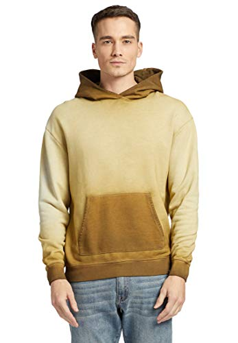 khujo Herren Sweatshirt Gilbert Kapuzenpullover aus Baumwolle Hoodie mit effektvoller Färbung