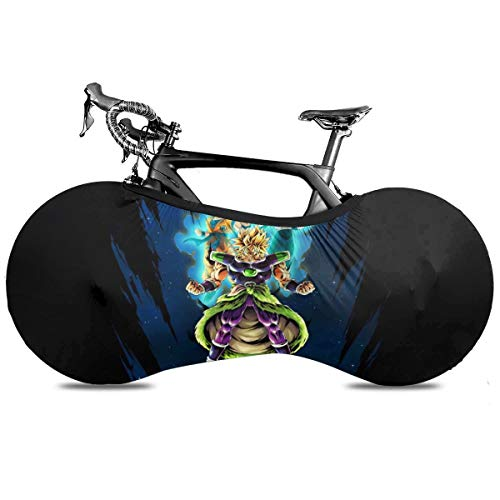 DamianSzifron Dragon Ball Broly vs Vegeta and Goku Bike Cover Washable Elastic Dirt-Free Bike Storage Wheel Cover Tire Package Fit All Bicycles