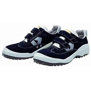 [ドンケル] Dynasty コンフォート 安全靴 スニーカー ハイテク樹脂先芯入 JIS T8101革製 S種E合格(D式) DC281 メンズ ブラック 25.5