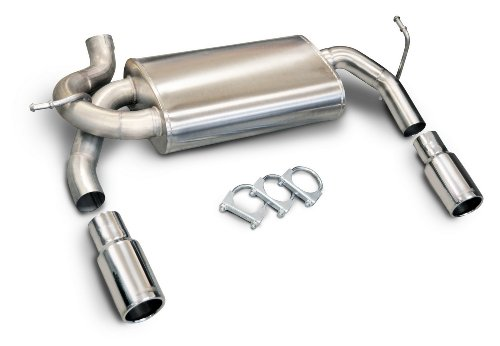 CORSA 24412 Dual Exit Cat-Back Exhaust System for Jeep Wrangler JK