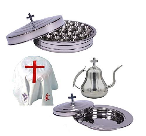 Ensemble de communion portable, Portable Minister Travel Communion Set By Religious Gifts