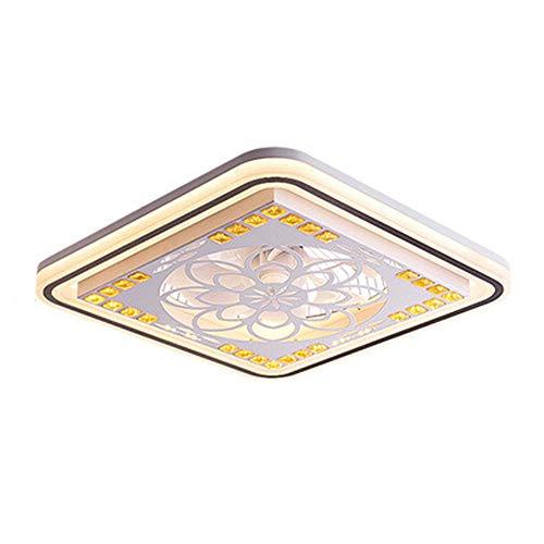 CDwxqBB Deckenventilator Mit Lampe, Ventilator Mit LED-Lampe, Dimmen Mit Fernbedienung, Moderne Minimalistische Schlafzimmer- Und Wohnzimmer-Deckenleuchte Mit Dekorativer Beleuchtung,Square