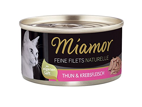 Miamor Feine Filets naturelle Thun & Krebsfleisch, 24er Pack (24 x 80 g)