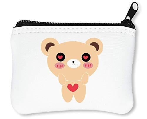 Cute Teddy Reißverschluss-Geldbörse Brieftasche Geldbörse