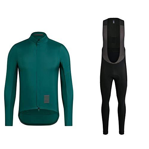 Winter Cycling Jersey Suit Long Sleeve Cycling Clothing Mountain Bike Shorts MTB Racing Gear Gel PadTeam Jersey Casual Riding Kits (3XL)