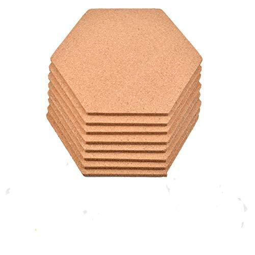 8 Stück Pinnwand Kork, Sechseckige Korkplatte Selbstklebende Korkwand DIY, Korkwand Multifunktionale Anwendung für Foto hängen, Heimdekoration und Büro Memorandum
