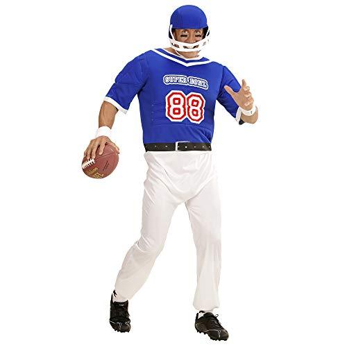 Blauw American Football speler kostuum voor mannen