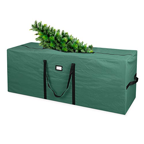 Primode Holiday Tree Storage Bag | Fits Up to 9 Ft. Tall Disassembled Tree | 25' Height X 20' Wide X 65' Long | Heavy Duty Storage Container, Constructed of Durable 600D Oxford Material (Green)
