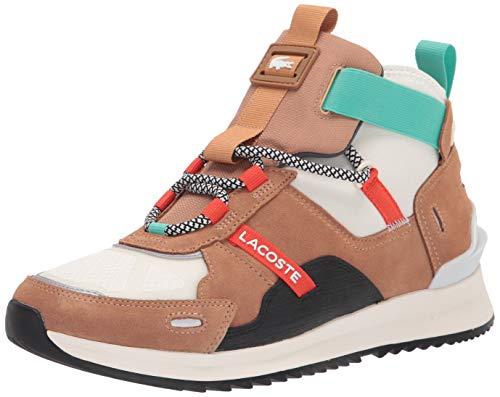 Lacoste Men's Run Breaker 0320 1 SMA Sneaker, TAN/Off White, 12