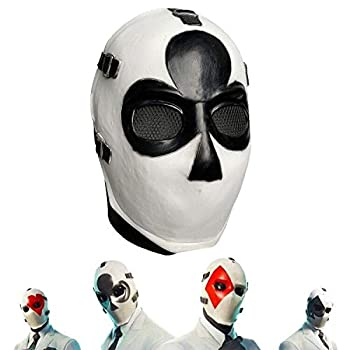 Verceco Square Poker Face Mask Carnival Christmas Halloween New Year Easter Theme Party Head Mask  Clubs