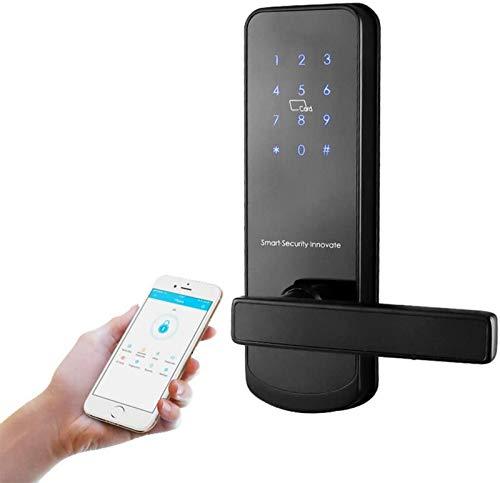 Keyless Entry Türschloss Home Security Anti-Diebstahl-Fingerabdruck-App Smart Türschloss Passwort Elektronisches Schloss mit Ersatzschlüsseln