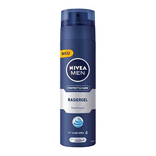 Nivea Men Protect & Care Rasiergel für Männer, 3er Pack (3 x 200 ml)