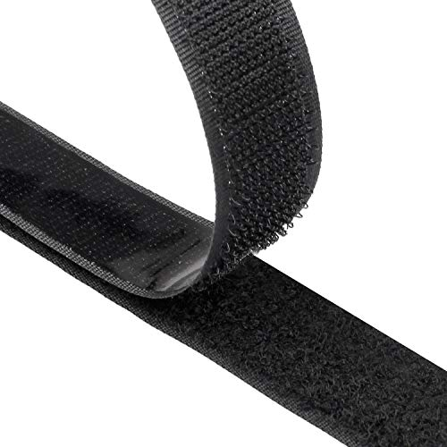 SUNRIZ Klettband Selbstklebend,8M Extra Stark Doppelseitig Klebende | Klettverschluss | Selbstklebendes Klebepad, 20mm Breit, Schwarz