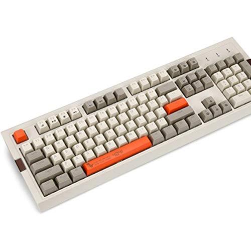 104 Keys Mechanische Keyboardgaming Tastatur RGB-Hintergrundbeleuchtung Wired Keyboard Zwei-Farben-PBT-Ball Schlüssel Cap Ergonomische,B