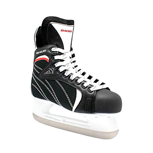 ZYF Eiskunstlauf Schlittschuhe Kinder Eishockeyschuhe, professionelle Skate Schuhe Jugendtraining Skates True Ice volle Paket Speed ​​Skating Schuhe (Color : Black, Size : 29)
