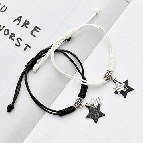 HUOQILIN Korean Couple Bracelet One Pair of Men and Women Girlfriends Bracelet Simple Bracelet Hand Rope Bracelets Personalized Jewelry Accessories (Color : C)