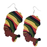 IPOTCH Aretes de Dama Africana con Peinado Especial Ético para Fiestas, Estilo Bohemio
