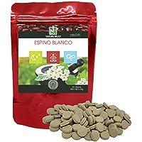Espino Blanco/NAKURU Relax/Polvo orgánico secado y comprimido en frío/Analizado y acondicionado en Francia (90 Tabletas de 600mg / Peso Neto: 45g / Rouge)