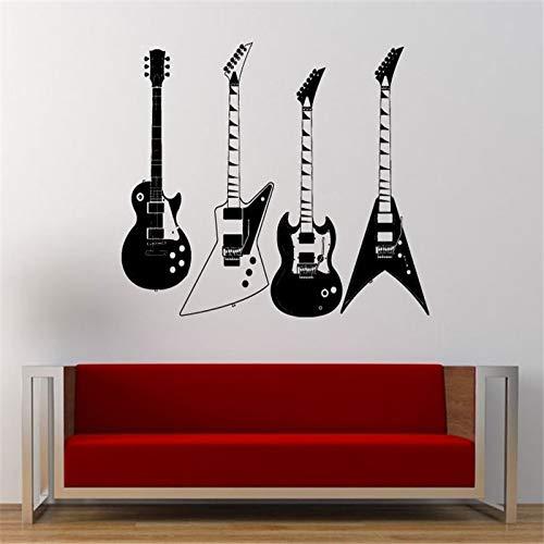 BailongXiao Colección de Cuatro calcomanías de Pared de Guitarra ...