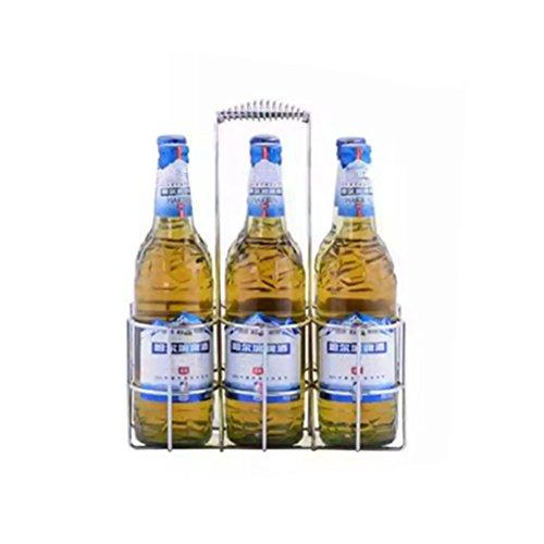 BESTOMZ Flaschenträger für 6 Flaschen, Metall Flaschenkorb für Restaurant KTV Bar