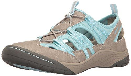 Price comparison product image JSport by Jambu Women's Hibiscus Walking Shoe,  Cement / Pastel Blue,  8 M US