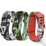 Compatible for Garmin Vivofit Jr Bands,Soft Silicone Replacement Strap Sport Wristband for Garmin Vivofit 3/Vivofit JR Bands/Vivofit Jr 2 Bands Smartwatch with Metal Secure Clasp for Boys Kids Girls